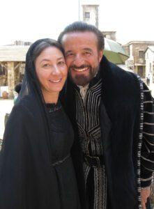 Barbara Enrichi con Cristian De Sica