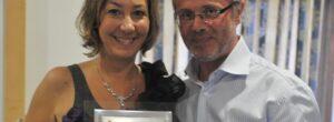 Barbara Enrichi (riceve un premio a Nettuno) e Michele Bruccheri